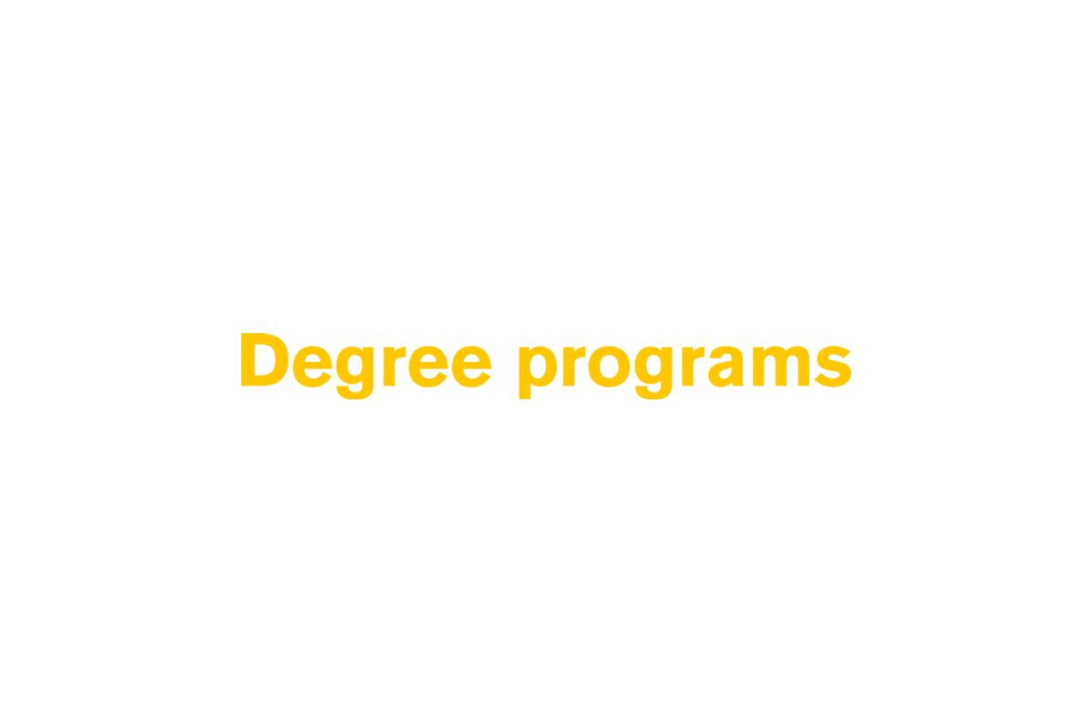 Degree programs (text)