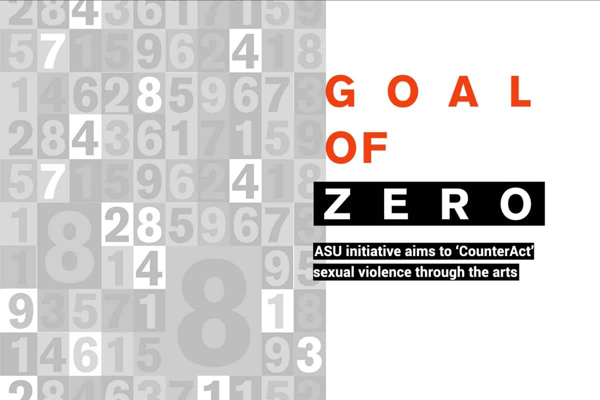 Goal of Zero - text - with random numbers in the background