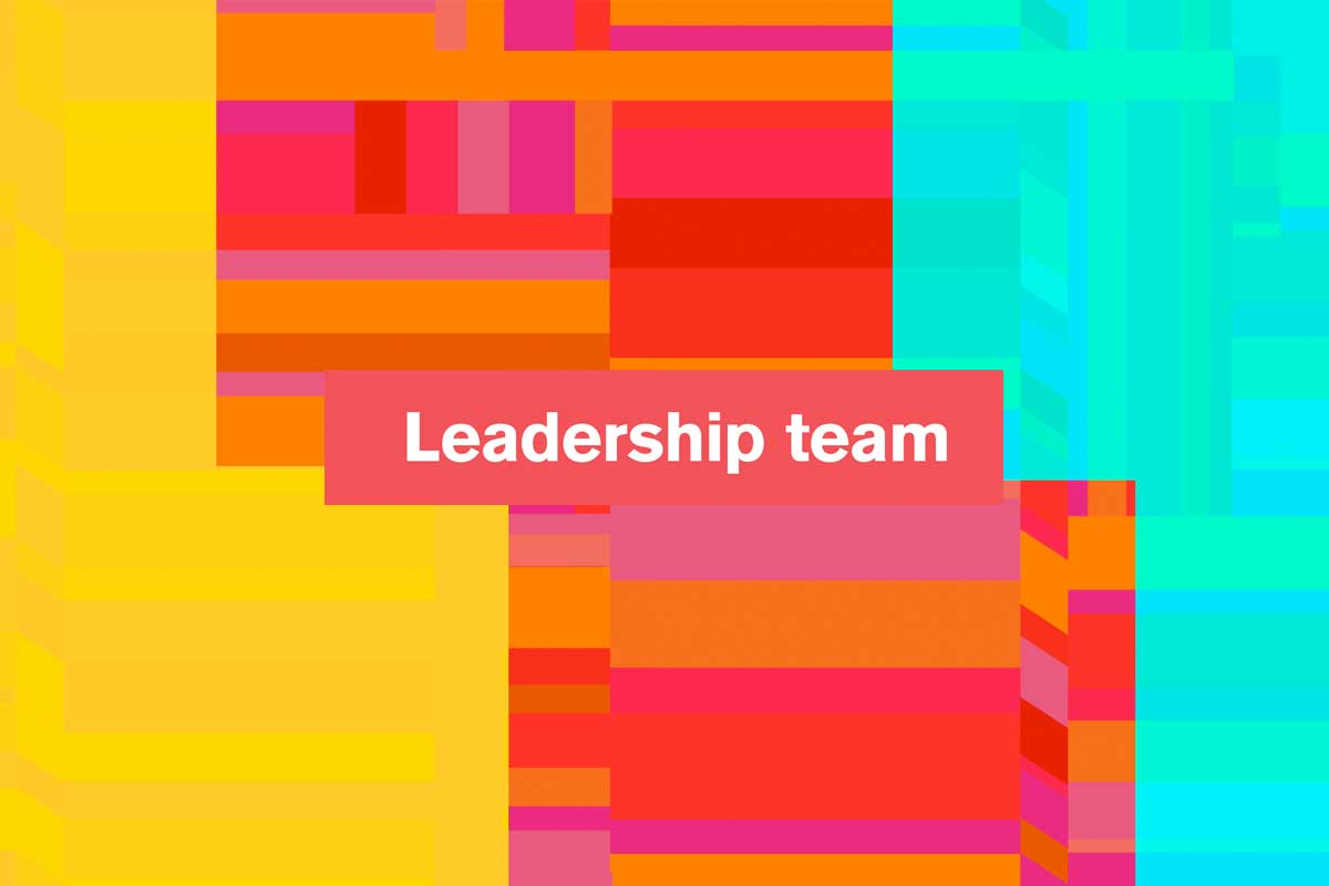 Leadership team (text) with background pattern