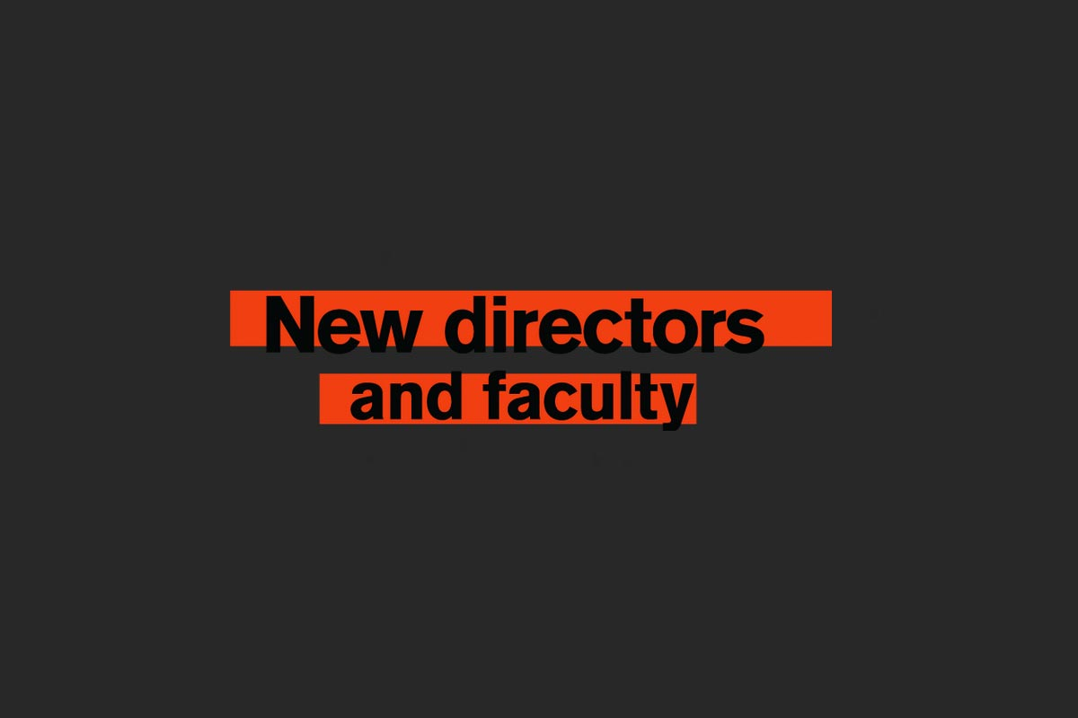 New directors and faculty - text