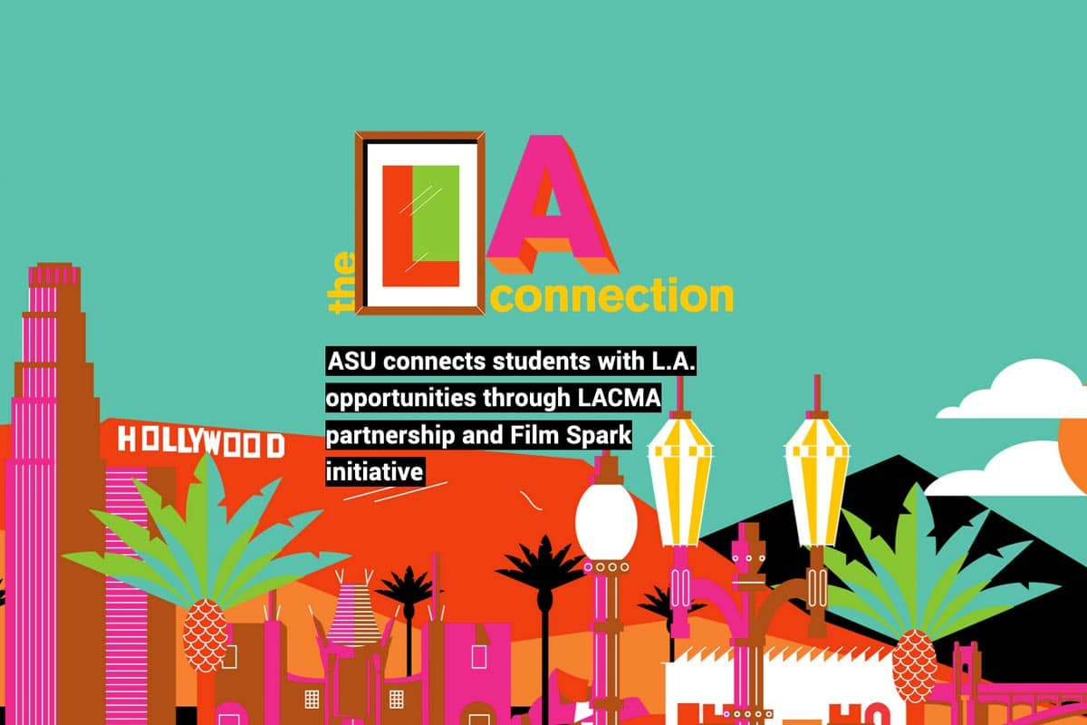 the LA connection - text - with illustration of LA