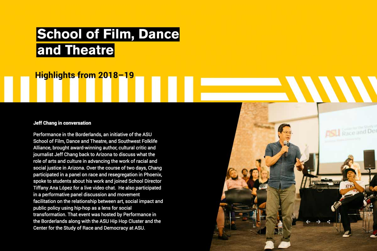 school of film dance and theatre highlights
