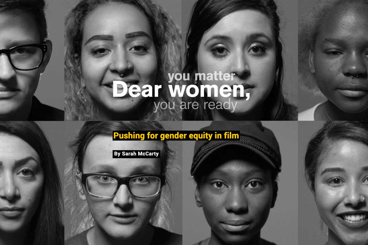 you matter, Dear women, you are ready - text - with 8 portraits of young women
