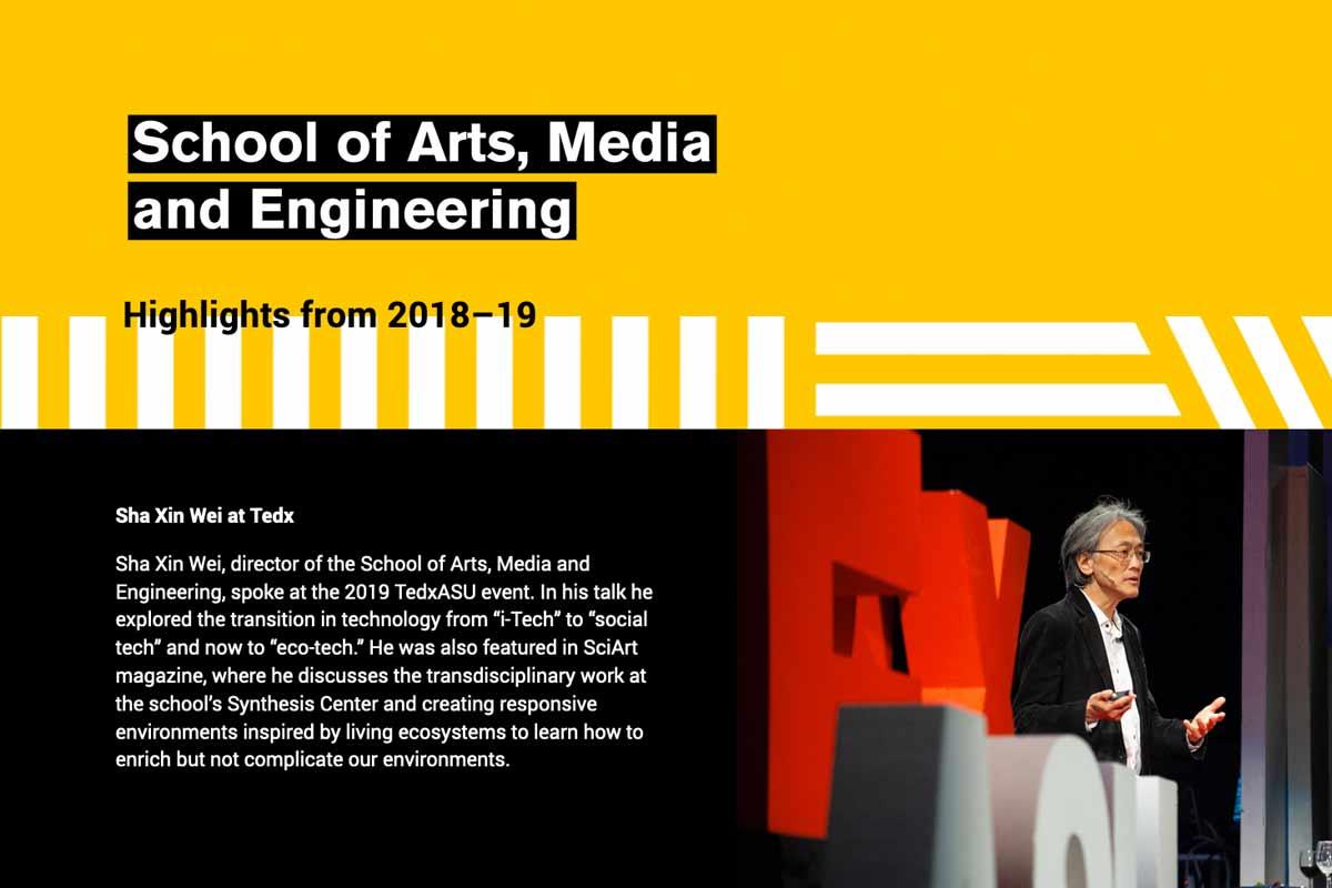 school of arts, media and engineering highlights