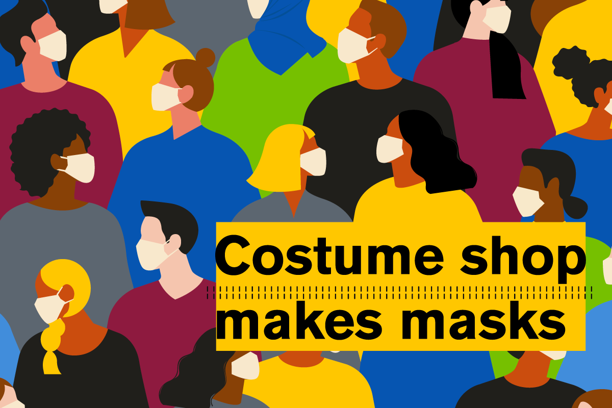 Costume shop makes masks